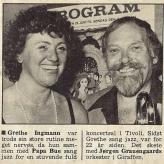 Koncerter med Grethe Ingmann