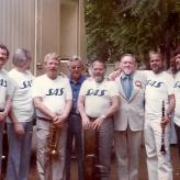 Danske venner back-stage i Californien 1980