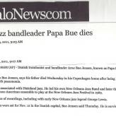 Nyheden om Papa Bues død spredes