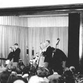 Fodvarmerne i selskab med Walther Ulbricht og Nikita Khrujsjtjov