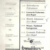 Månedsprogram for jazzklubben Never Mind i Kostalden på Østerbro