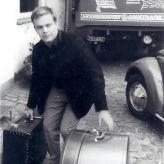 Ib Frisendahl Petersen på vej til Sverige.