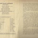 Koncertprogram for South Gate Jazzmen i DDR