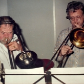 Arne Bue og Fessor i studiet