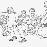 Tysk tegners oplevelse af Papa Bue ved koncert i Tyskland 1974