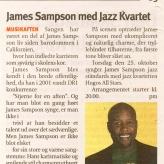 James Sampson med Hugos All Stars